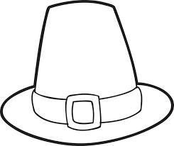 free printable pilgrim hat coloring page for pilgrim