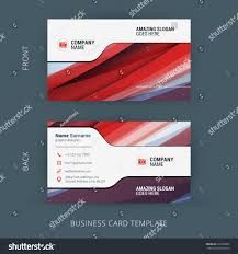 vector creative business card template abstract stock vector