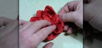 Lotus Blossom Origami - how to make an origami lotus flower from a napkin 皓 origami