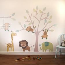 monkey friends tree wall stickers by parkins interiors monkey friends tree wall stickers