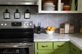 Remodelaholic  DIY Kitchen Backsplash Ideas - Diy kitchen backsplash tile