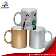 sublimation gold silver pearl mug wholesale buy silver coffee