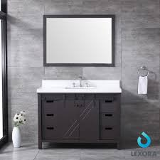 what color goes with brown bathroom cabinets marsyas 48 color brown vanity for bathroom with white quartz top
