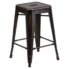 indoor outdoor counter height stool flash furnitur flash furniture 24 high backless distressed metal indoor outdoor