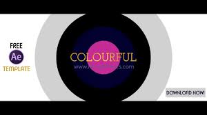 colourful intro free after effects template download now youtube