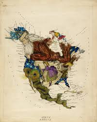 Lancaster Map Cartoon Map Of South America By Lillian Lancaster British
