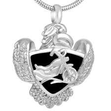 ashes locket motorcycle urn for ashes memorial cremation urn pendant necklace