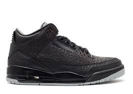 3 by Air Jordan Retro 3 Flip Air Jordan 315767 001 Black Metallic