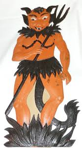 large vintage german made die cut halloween decoration u2013 u201cdevil