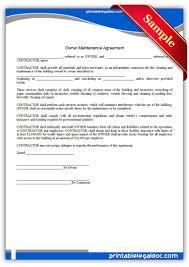 Sample Landscape Maintenance Contract Maintenance Agreement Template Microsoft Word Templates Service
