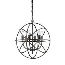 Chandelier Metal Industrial Chandelier Light Fixture Globe Metal Rustic