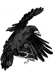 awesome black crow tattoo idea