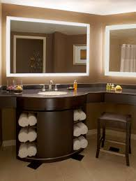 Backlit Bathroom Mirror by Grand Pequot Tower Deluxe Room The Bathrooms Are Equipped With A