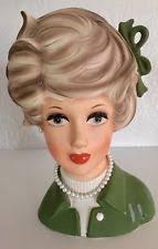 Napco Lady Head Vase Vintage 4 1 2