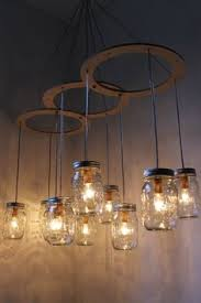 How To Mason Jar Chandelier Love The Whimsy Of This Mason Jar Chandelier Would Be Fab In A