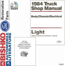 1984 ford econoline bronco truck shop service repair manual cd oem