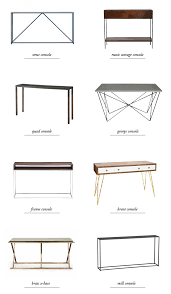 X Base Console Table Sarah Sherman Samuel Shopping For A Console Table U0026 Entry Update