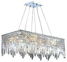 Transitional Chandeliers Rectangular Crystal Chandelier Lighting U2013 Kitchenlighting Co