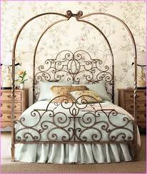 Wrought Iron Canopy Bed Canopy Bed Design Wrought Iron Canopy Bed Frame With Leaves