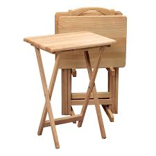 Linon Home Decor Linon Home Decor Tray Table Set Faux Marble Brown Affordable Tv