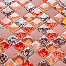 Stone Glass Tile Backsplash by Crackle Glass Tile Backsplash Ideas Bathroom Decorative Wall Stone