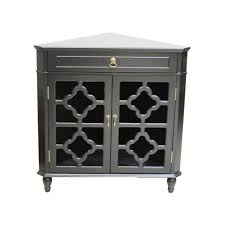 home depot kitchen cabinet glass doors shelly assembled black d glass corner utility cabinet with drawer and 2 doors