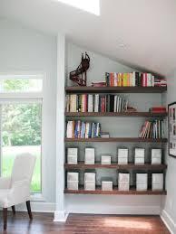 Creative Shelving | utilize spaces with creative shelves hgtv