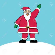 drawn santa christmas tree pencil and in color drawn santa
