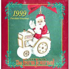 breyer horse breyer farm journal santa and tractor ornament