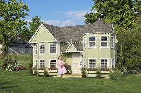sara u0027s victorian mansion amish made kids outdoor playhouse kit