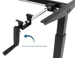 Manual Adjustable Height Desk by Desk V101m Black Manual Height Adjustable Stand Up Desk Frame