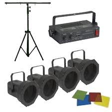 Eliminator Lighting Eliminator Lighting Par 38 Pak Dj Lights Package System 4 Par Cans