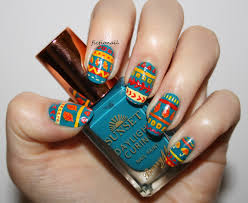 autumn tribal nails