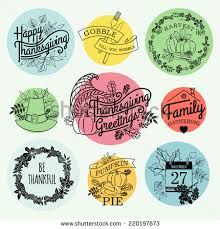 vector collection nine thanksgiving decoration elements stock