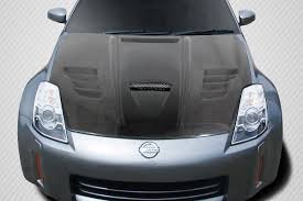 nissan 350z custom 2003 2006 nissan 350z carbon creations vader hood 1 piece xsv