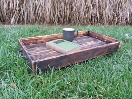 Made Ottoman by Hand Made Wood Serving Tray Made From Reclaimed Pallet Wood