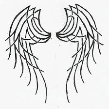 tattoo angel simple simple angel wings drawings free download best simple angel wings