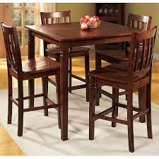 ideas exquisite walmart dining room walnut counter height walnut
