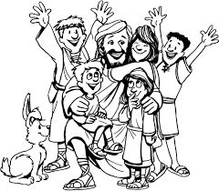 jesus and children coloring page 9924