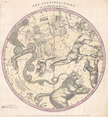 Map Of Constellations File 1856 Burritt Huntington Map Of The Stars Constellations