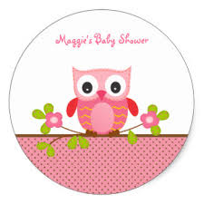 owl baby shower owl baby shower stickers zazzle