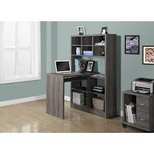 monarch specialties 2 in 1 piece dark taupe office suite i 7041