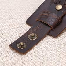 leather cuff wrap bracelet images Aobei pearl handmade dark brown genuine leather cuff bracelet jpg