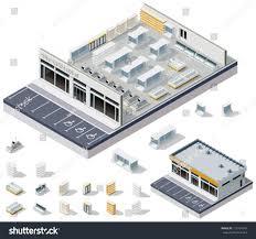 Supermarket Floor Plan by Vector Isometric Diy Supermarket Interior Plan Stock Vector
