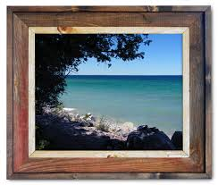 Picture Frames Made From Old Barn Wood Canvas Prints From Photos Makes Beautiful Wall Art