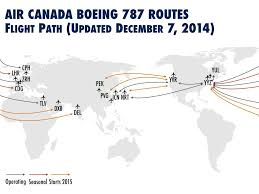 Air Canada Route Map by Air Canada Flying To India And Uae Updated