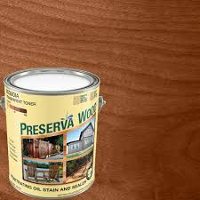 Home Depot Wood Stain Colors by Preserva Wood 1 Gal Oil Based Sequoia Penetrating Stain And