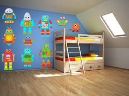 Wall Decals For Boys Room Robot Wall Art Robot Wall Decal Boys Room Wall Decal