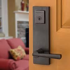 Baldwin Entrance Door Hardware Spyglass Entrance Set With Spyglass Levers 183spexspl Sqr 11p Smt