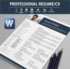 Stylish Resume Templates Word 21 Word Professional Resume Templates Free Download Free